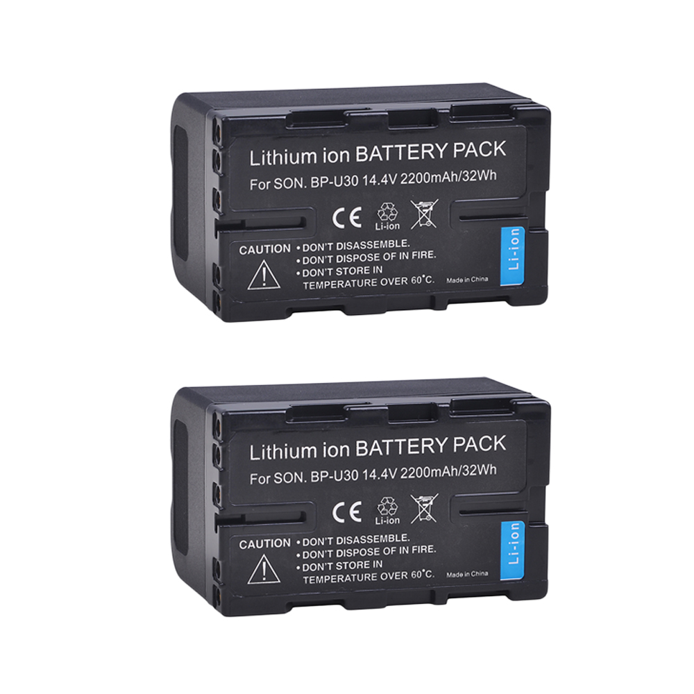 2Pcs 2200mAh BP-U30 bp-u30 BP U30 Camera Battery for Sony PMW-100, PMW-150, PMW-200, PMW-300, PMW-300K1, PMW-300K2 Camera2Pcs 2200mAh BP-U30 bp-u30 BP U30 Camera Battery for Sony PMW-100, PMW-150, PMW-200, PMW-300, PMW-300K1, PMW-300K2 Camera