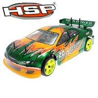 Hsp baja 1/10th escala 4wd nitro esférica de pivote de suspensión del coche de rc 94122 xstr poder con 18cxp motor rtr