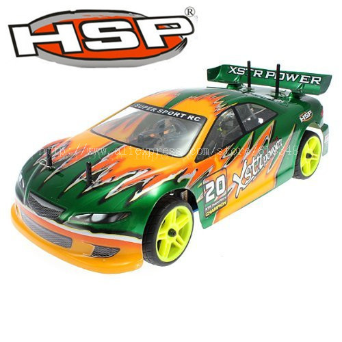 HSP Baja 1 /10th Scale 4WD Nitro Pivot Ball Suspension RC Car  94122 Xstr Power with 18cxp engine RTR двигатель super tigre 18 nitro купить