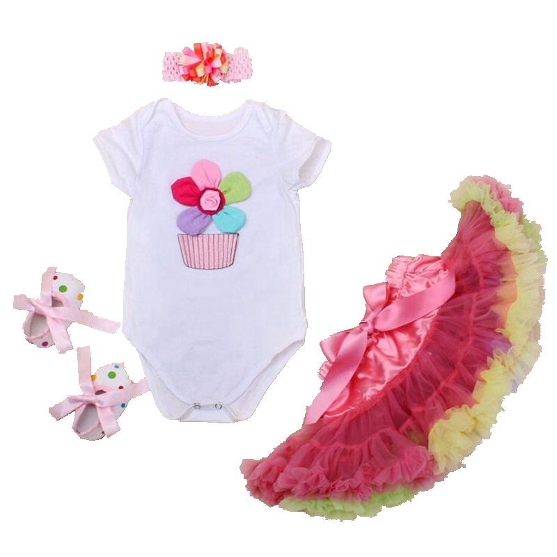 Fashion 3D Flower Bebes Bodysuit Tutu Skirt Summer Newborn Baby Girl Clothes First Birthday Outfits Toddler Girl Clothing Sets hot toddler girl clothing cake tutu skirt and long sleeved rompers suit high quality newborn baby girl sets birthday baby gift