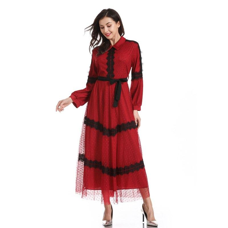 Robe musulmane d'été Abaya Ramadan arabe islamique Hijab Robe turquie Caftan Marocain Tesettur Elbise Caftan Robe robes Dubai