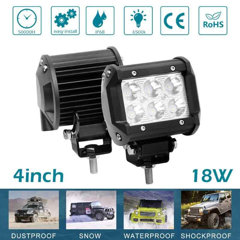 Universal Dustproof IP67 LED Work Light 1290LM Waterproof Car Boat 4WD ATV UTV SUV Offroad Work Light Bar Driving Fog Lamp