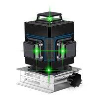 Лазерный уровень 16 линий зеленая линия 3D самовыравнивание 360 горизонтальный и вертикальный супер мощный лазерный уровень Зеленая лазерная