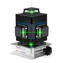 Лазерный уровень 16 линий зеленая линия 3D самонивелирующийся 360 горизонтальный и вертикальный супер мощный лазерный уровень Зеленая лазерная уровень