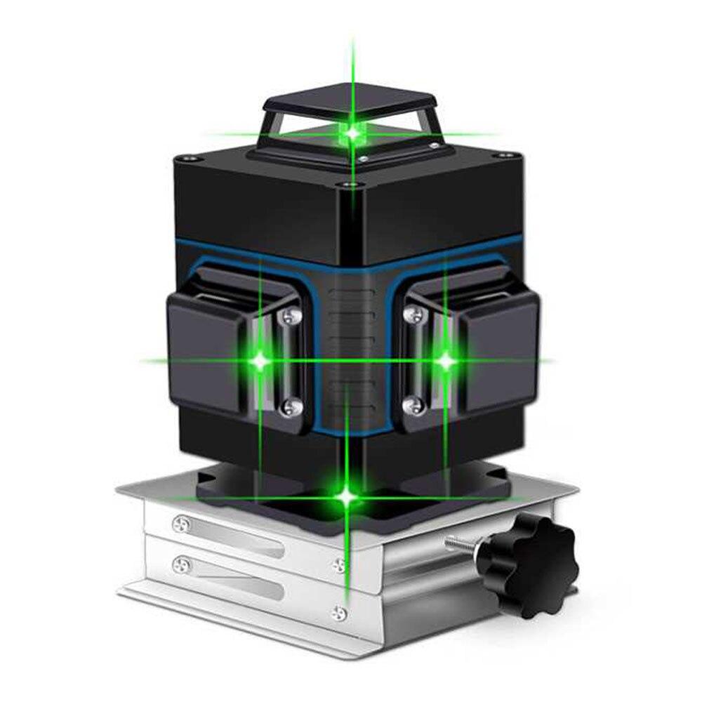 Linhas de Nível Laser 16 3D Auto-Nivelamento da linha verde 360 nível Horizontal E Vertical Super Poderoso Laser verde Feixe nível do laser