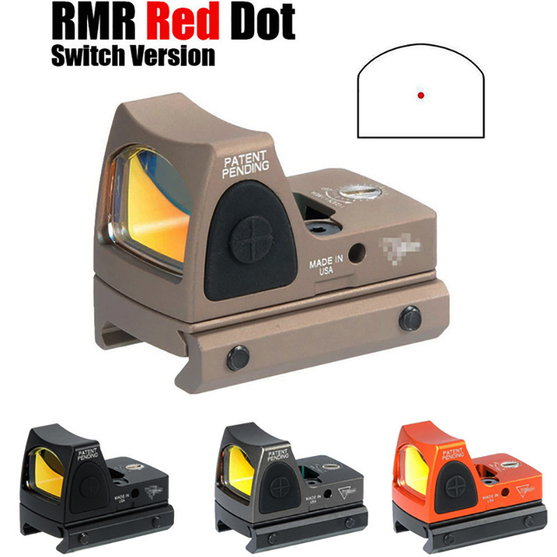 Red Dot Sight Scope Tactical RMR Adjustable Reflex 3.25 MOA Scope For Hunting Fit 20mm Picatinny Rail And Airsoft Pistol
