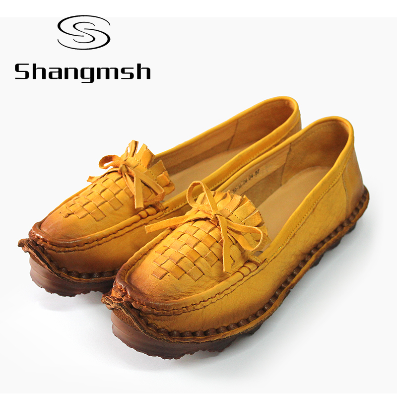 ФОТО Leather Soft Bottom Women Shoes Pregnant Women Flats Mother Driving Shoe Female Plus Size Moccasins Loafers Casual Shoes Flats
