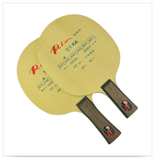 Original Palio KA Pure Wood Table Tennis Blade 40mm Big Ball Blade Table Tennis Rackets Loop Attack