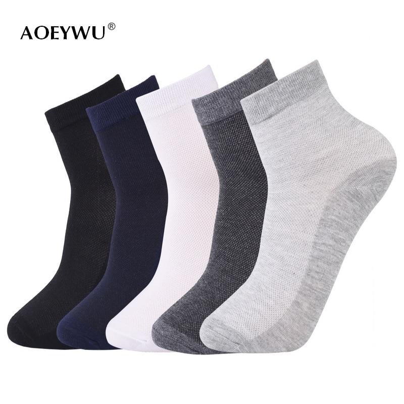 5pairë / shumë burra të pranverës së verës burra pa frymë çorape të hollë pambuku mashkull çorape të shkurtra biznesi të zi