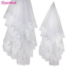 1.2 Meters Lace Edage Short Wedding Veil Tulle Ivory White Bridal Veil Wedding Accessories