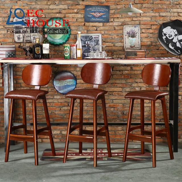 Три ночи мечта твердой древесины бар ресторан главная регистрации Европейский стиль ретро современный простой высокого ног табурет БЕСПЛАТНАЯ ДОСТАВКА