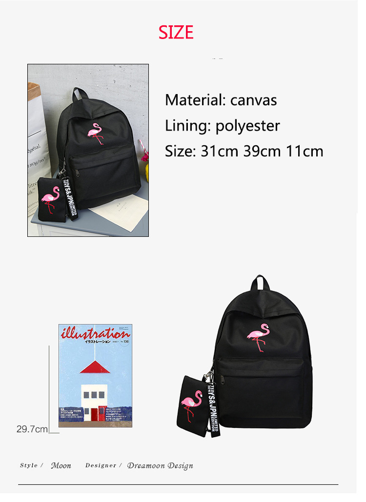 HTB1OuR8KruWBuNjSszgq6z8jVXal Backpacks Brand Women Simple Flamingo Printing Backpack For Teenage Girls Laptop School Bags Mochila 2019