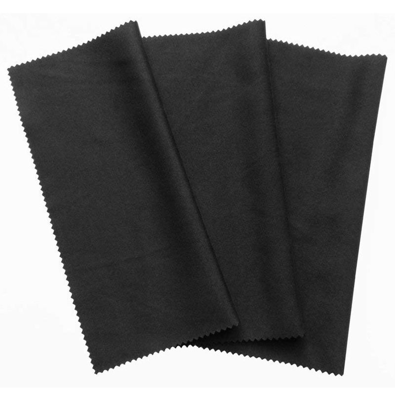 3x microfiber cleaning cloth 20x19cm black cleaning cloths touchscreen smartphone display glasses laptop lens screen