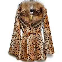 Fur Jacket women 2018 Fashion Sexy Leopard Thick Warm Faux Mink Fur Coat Female Faux-fur-coat Plus size 5XL 6XL