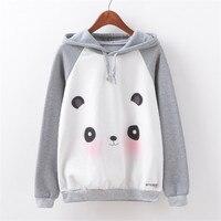 New Arrivals 2017 Panda 3D Printed Kawaii Hooded Sweatshirt For Women Pullovers Long Women Hoodies Fashion