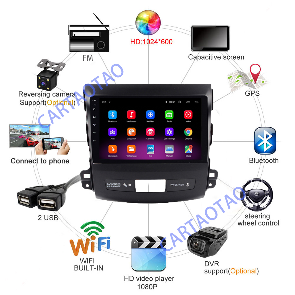 Image 5 - 2.5D 2din Android Car Radio Multimedia Player for Mitsubishi Outlander / Peugeot4007 2006 2008 2009 2010 2011 Navitel GPS WI FI-in Car Multimedia Player from Automobiles & Motorcycles