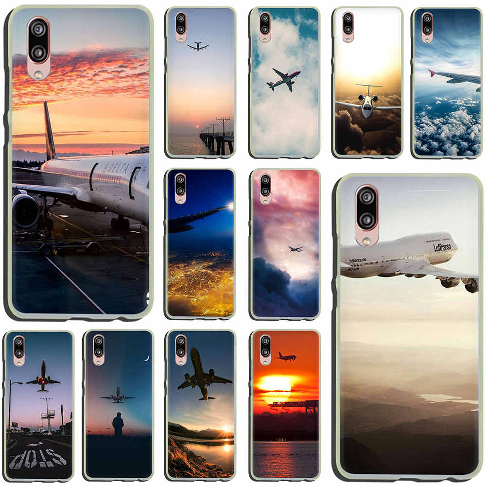 Aircraft Airplane fly travel cloud Sky Luxury Hard Phone Case for Huawei P30 P20 P8 P9 P10 Plus Lite Mini 2017 Pro smart 2019
