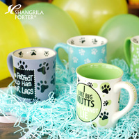Cartoon Creative Pet Cat Paws ceramic cups and mugs with handgrip porcelain drinkware milk tea coffee cup mug under glazed
