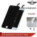 100% aaa calidad de reemplazo para iphone 6 lcd 4.7 pulgadas display Con Pantalla Táctil de Cristal Digitalizador Asamblea envío temperamento vidrio