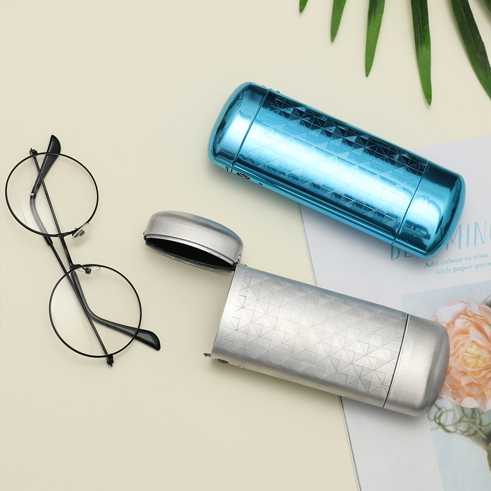 Aluminum Metal Glasses Case Eyewear Storage Box Spectacles Protector Sunglasses