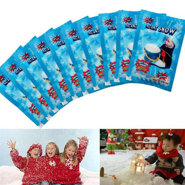 Christmas Fake Magic Instant Snow Fluffy Super Absorbant Decorations For Christmas Wedding 5PCS/Bag 5