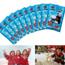 5pcs/lots White Snow for Christmas Wedding Fake Magic Instant Snow Fluffy Super Absorbant Decorations Tree Snow Powder