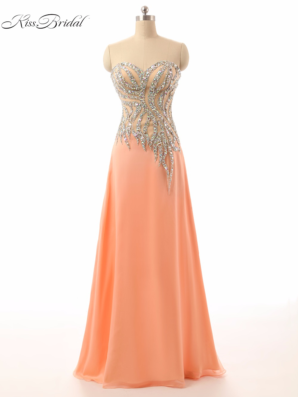 Sexy   Prom     Dresses   Sweetheart Sleeveless Floor Length Beaded Formal Evening Party Gowns A-Line Vestido De Festa