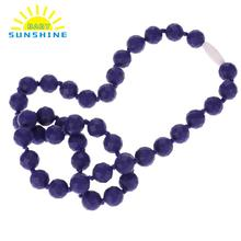High Quality Silicone Necklace Baby Teether Beads Chewable Necklaces BPA Free Toddler Infant Teething Toys Anneau De Dentition(China)
