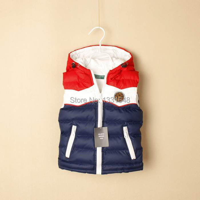 Retail top quality brand new fashion coat baby children kids vest waistcoats cotton boys autumn winter