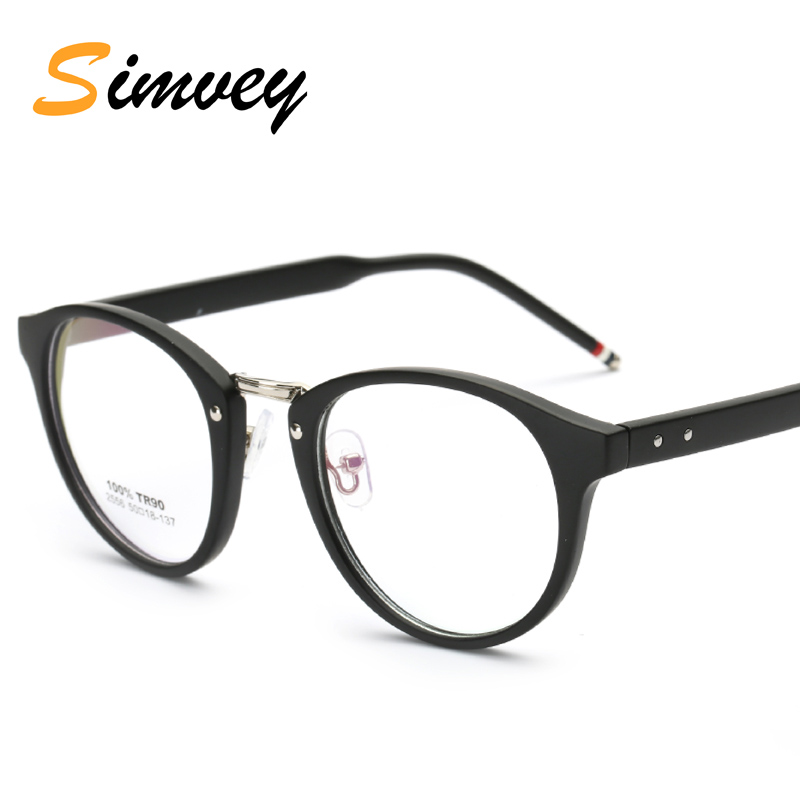 Simvey Fashion Retro Designer TR90 Glasses Frame Anti Blue Ray Computer Gaming Glasses for Women Men