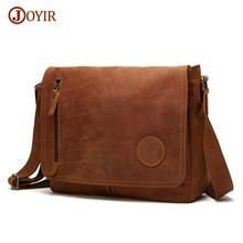 Joyir Crossbody Bags For Men Genuine Leather Bag Shoulder Retro Vintage Man Casual Bag Male Leather Messenger Bags Handbags 6391