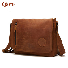 Joyir Crossbody Bags For Men Genuine Leather Bag Shoulder Retro Vintage Man Casual Bag Male Leather Messenger Bags Handbags 6391