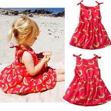 купить Girls Summer Dress 2019 Girl Kids Dress Cotton Sleeveless Dresses Casual Print Baby Summer Clothes 1 2 3 4 5 Years Girls Dress по цене 691 рублей