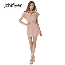 women dress fashion mujer vestidos feminine chiffon summer casual 5 colors size S-XL with sashes