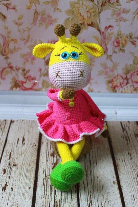 Crochet Toys  Amigurumi  Giraffe Model Number B0149