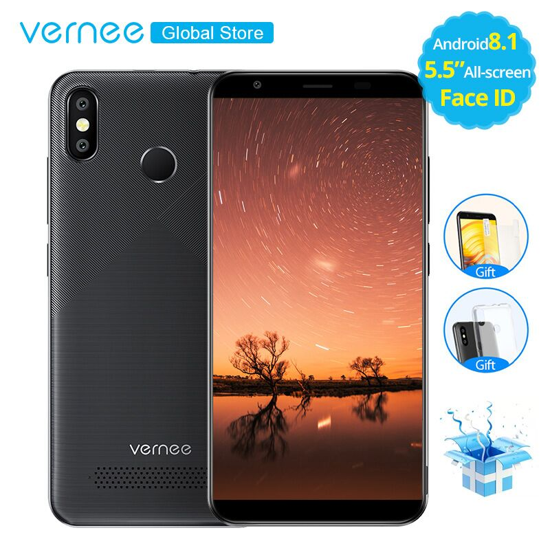 Vernee T3 Pro 5.5 Inch Face Id 3gb Ram 16gb Rom Android 8.1 Smartphone Quad Core Mtk6739wa Cellphone 4080mah 4g Lte Mobile Phone