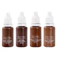 4 colors Permanent Makeup Micro pigments Set BTCH Tattoo Ink Cosmetic 15ml Kit For Tattoo Eyebrow Lip Make up Mixed color