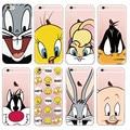 Bugs bunny looney tunes daffy duck case para iphone 6 tweetybird 7 5S 6 plus de lujo delgada capa protectora cubierta del teléfono de silicona suave