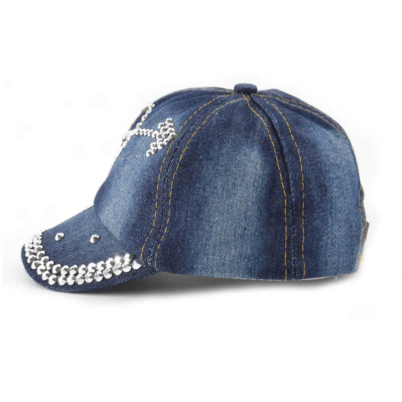 9ceb743045d ... HPBBKD Baby Jean Design Hat for Girls Caps Kids Snapback Hats Summer  Casual Sun Caps For ...