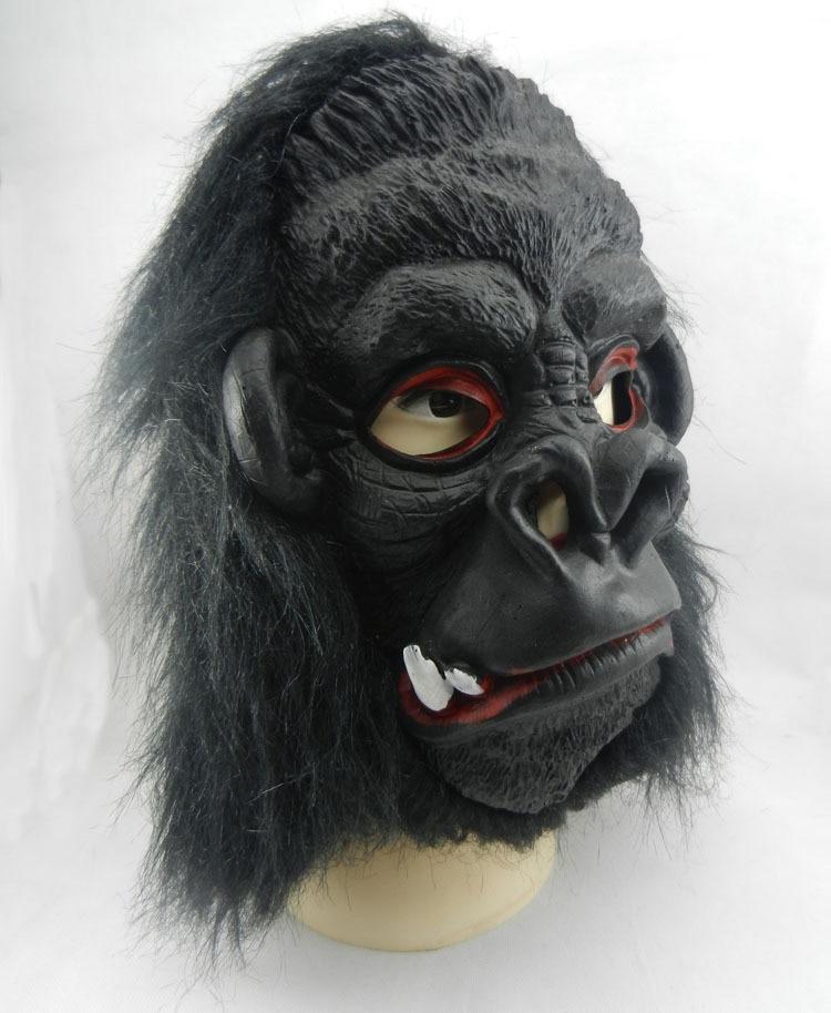 Scary Halloween Cosplay Black Gorilla Mask  Horror Ghost Mask Design High Grade Latex Vampire Mask  Anonymous Mask