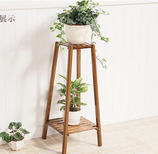 Double-Layer Modern Plant Shelf Indoor Corner Shelf Flower Storage Rack Balcony Pot Culture Shelf