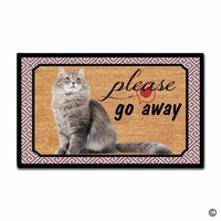 Custom Funny Printed Doormat Please Go Away DecorFunny Printed Doormat Indoor/Outdoor Door Mat 18 Inch by 30 Inch Non woven Fabr