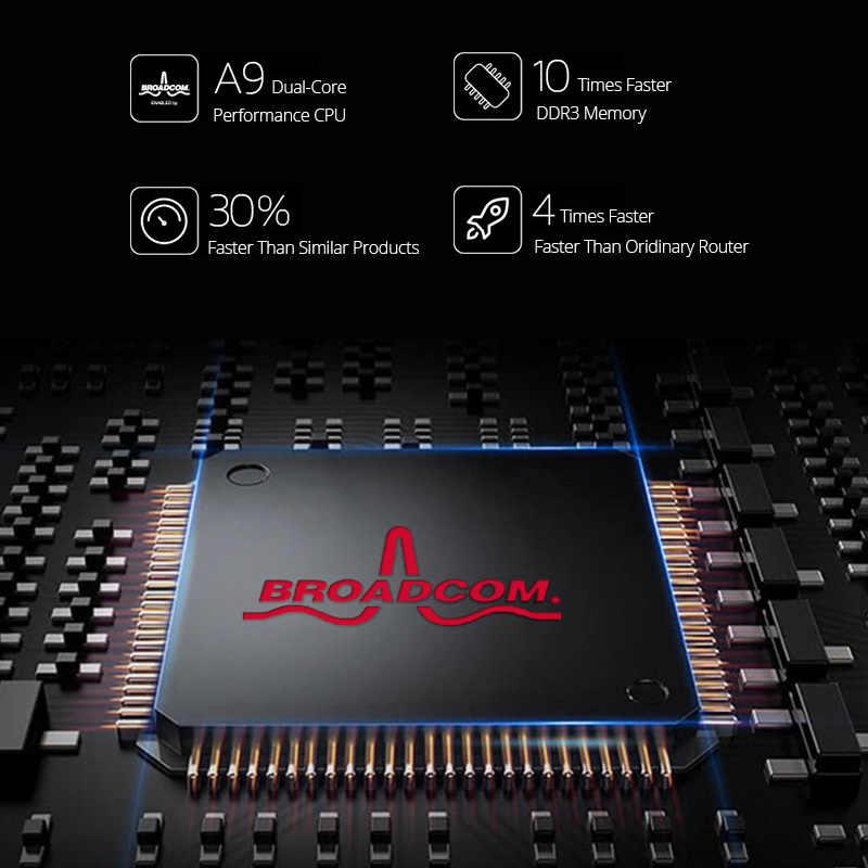 Routeur wifi sans fil Tenda AC18 256M DDR double cœur CPU 1WAN + 4LAN ports Gigabit répéteur WiFi double bande 11AC1900M Gigabit USB 3.0