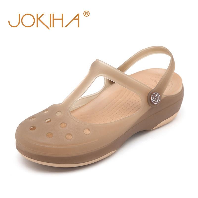 Schuhe Schnelle Lieferung Frauen Gelee Schuhe Dame Garten Schuhe Strand Sandalen Hausschuhe Sommer Stil Candy Komfortable Obst Helle Gelee Schuhe Plus Größe 9