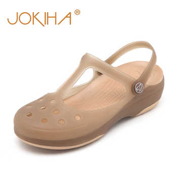 Summer Women Mules Clogs Beach Breathable Mary Janes Sweet Slippers Woman\'s Sandals Jelly Shoes Cute Garden Shoes Clog For Woman - DISCOUNT ITEM  30% OFF Shoes