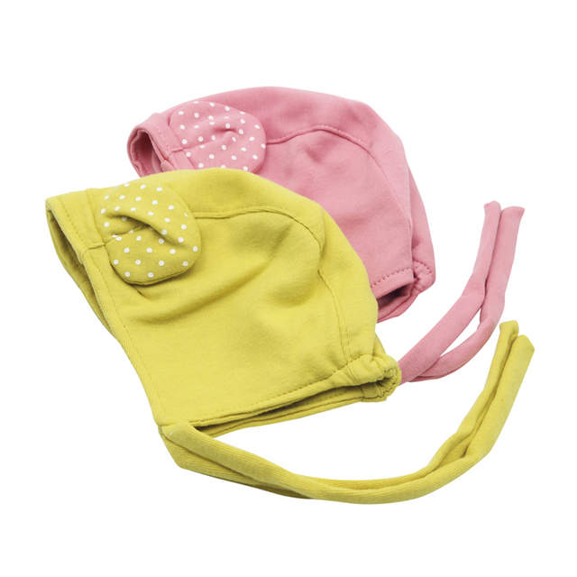 a0ae8e60eb8 Online Shop Spring Cute Baby Hat with Ears Adjustable Baby Bonnet Enfant  Cap Yellow Pink for 1-2 Years