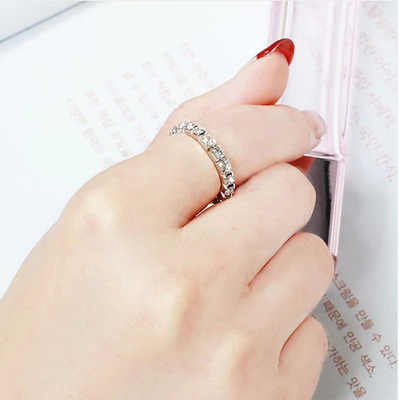 Elastic ring Rhinestone Finger Rings for Women Adjustable Stretch Foot Toe Rings