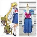 Новый Сейлор Мун 20-летие Sailor moon Кристалл Косплей Костюм На Заказ Хэллоуин Школа Сейлор Платье Равномерное Бесплатная Доставка