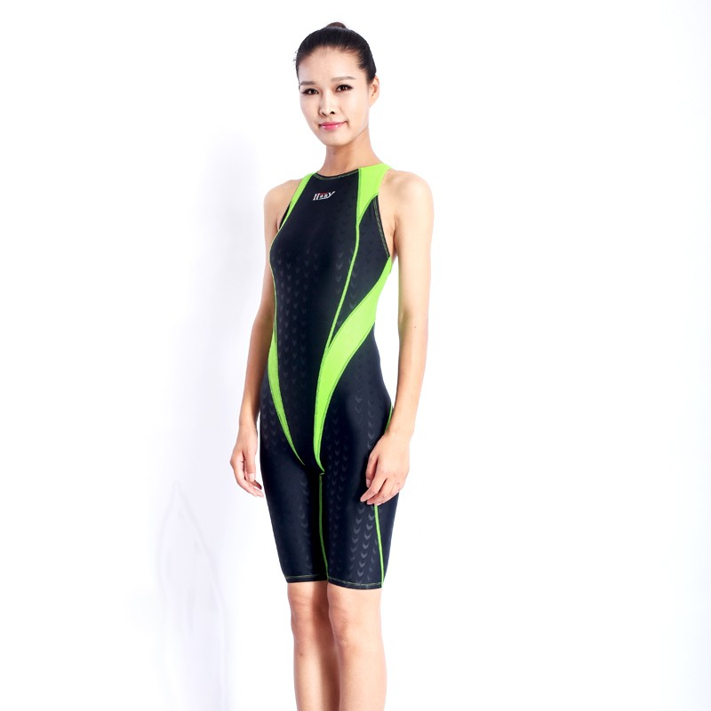 HXBY swimwear swimming suit women swimsuit Competition racing swimsuits knee swim suits plus size one piece training swimwear 13