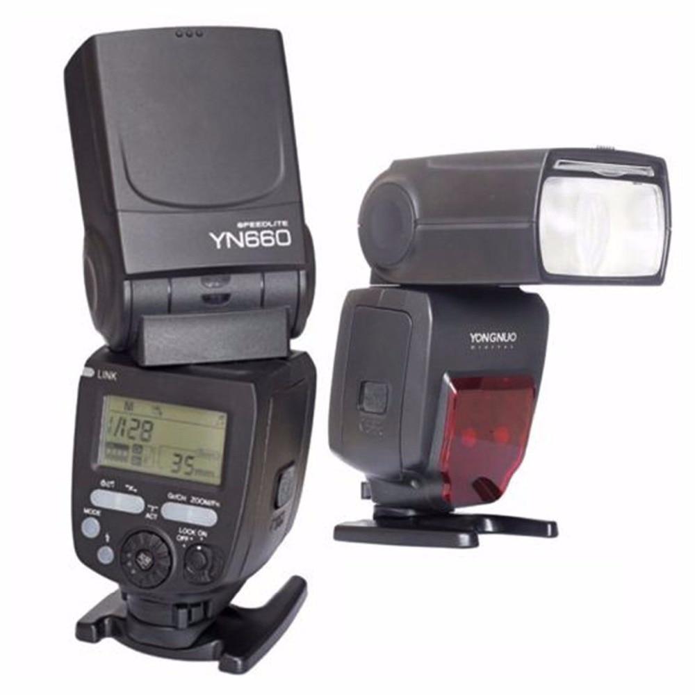 Ulanzi YONGNUO YN660 YN 660 Flash Speedlite GN66 2.4G Wireless Radio Master Slave Transceiver Integrated for Canon Nikon Olympus